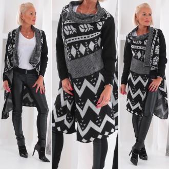 Dámské oblečení - Cardigan pléd kabátek svetřík CHRISS