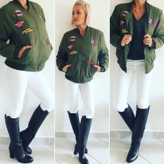 Dámské oblečení - Stylová dámská BOMBER bunda