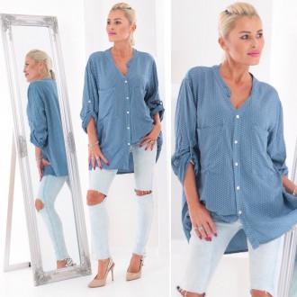 Dámské oblečení - Dámská košile Spotted BLUE