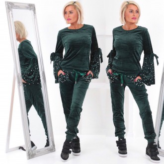 Dámské oblečení - Dámská tepláková souprava - teplákovka QUEEN s perly