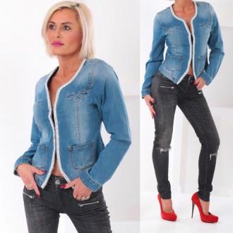 Dámské oblečení - Stylová dámská džínová bunda