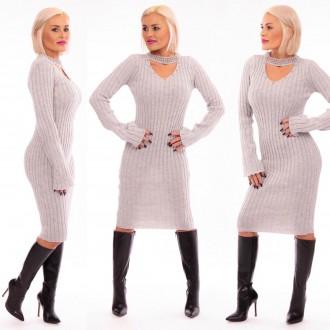 Dámské oblečení - Dámské úpletové šaty Beautypearls