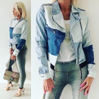 Dámské oblečení - Stylová dámská džínová bunda Trio