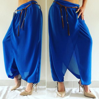 Dámské oblečení - Dámské kalhoty luxusní haremky NOTE