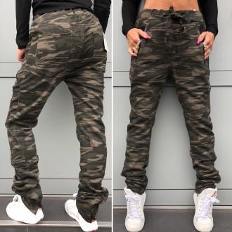 Dámské oblečení - Trendy baggy jeans army styl UNISEX