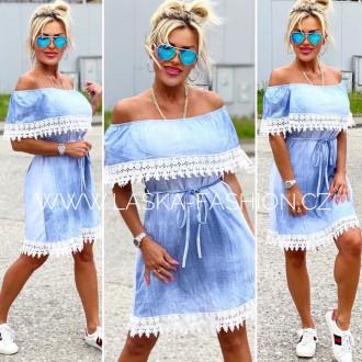 Dámské oblečení - Dámská šaty imitace jeans