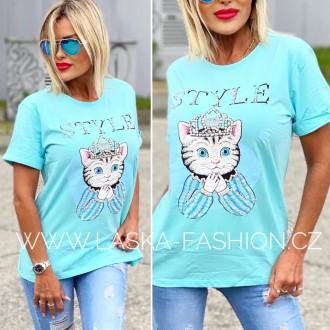 Dámské oblečení - Dámské tričko KITTY