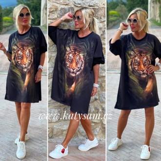 Dámské oblečení - Dámská maxi satovka TIGER