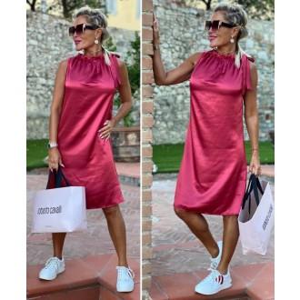 Dámské oblečení - Dámské elegantní šaty mašlička