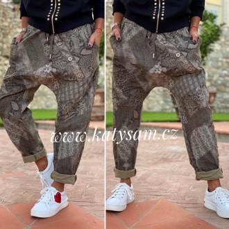 Dámské oblečení - Dámské kalhoty BIG knofle