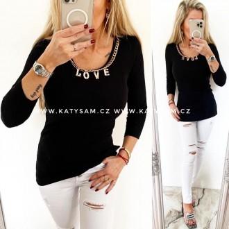 Dámské oblečení - Dámské tričko LOVE