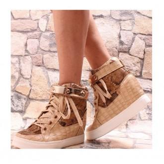 Dámská obuv - Luxusní obuv boty tenisky zvýšená platforma